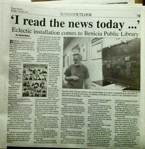 Benicia Newspaper Article